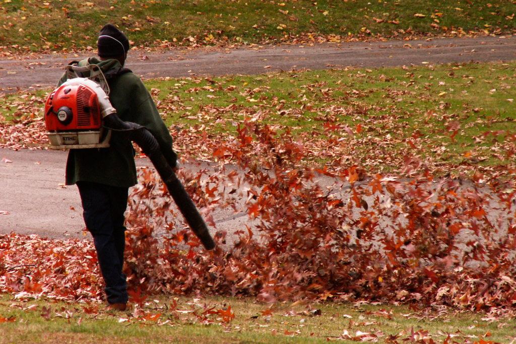 Starting a Leaf Blower