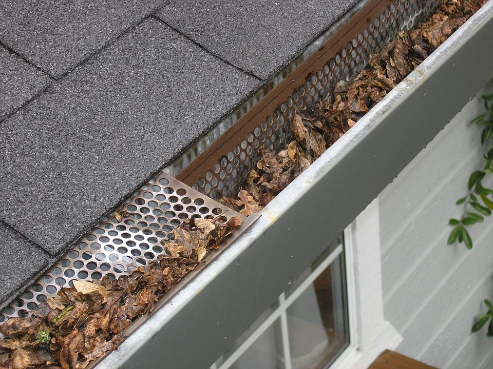 how to clean gutters with leaf blower